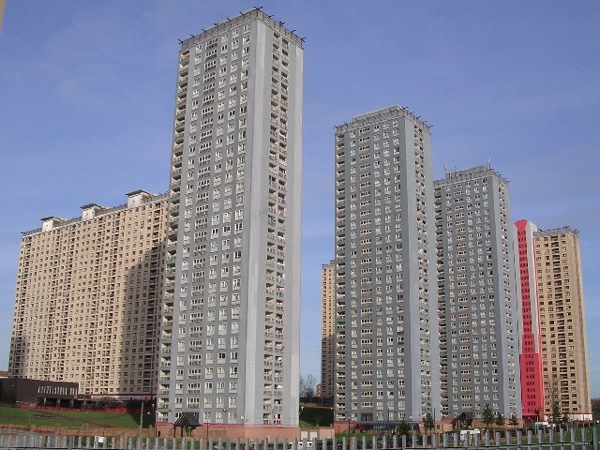 Red Road flats at Balornock geograph org uk 119968