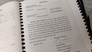 Motion for Leave to Appeal to N.Y. Court of Appeals