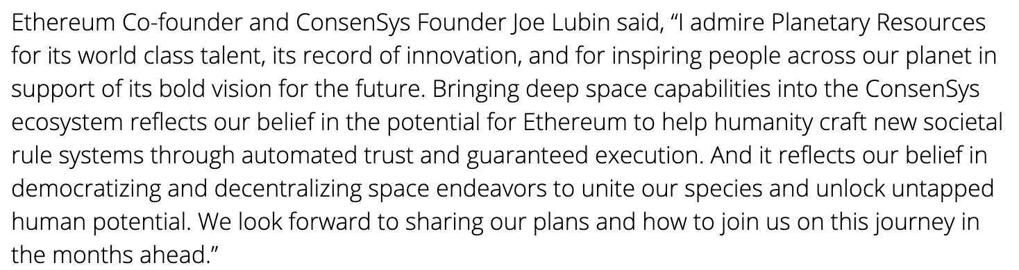 Ethereum! In space!